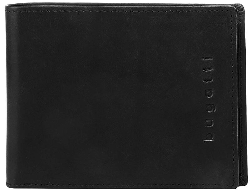 Bugatti Pánska kožená peňaženka Romano 49399401 Black