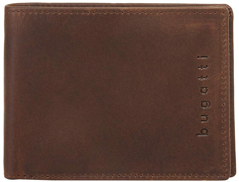 Bugatti Pánska kožená peňaženka Romano 49399402 Brown