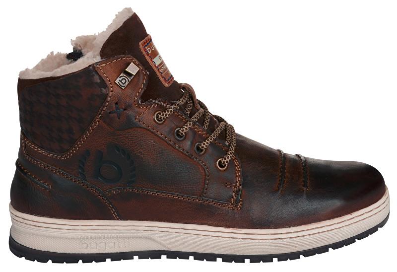 Bugatti Pantofi de gleznă din piele pentru bărbați 321334573200-6100 Dark Brown 40