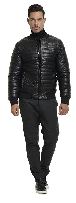 Biston-Splendid Pánska čierna bunda bomber 36201013.010 M