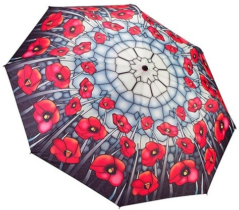 Blooming Brollies Dámský deštník Poppies folding style