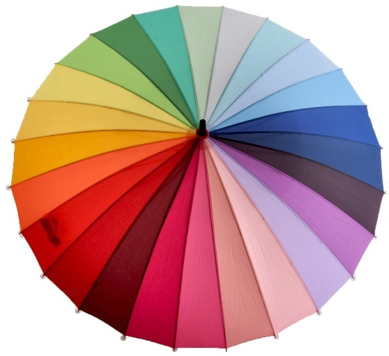 Blooming Brollies Dámský holový deštník Everyday Rainbow EDSRAINR