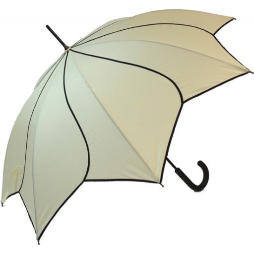 Blooming Brollies Dámský holový vystřelovací deštník Beige Swirl EDSSWBE
