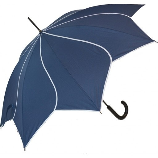 Blooming Brollies Dámský holový vystřelovací deštník Swirl Navy EDSSWN