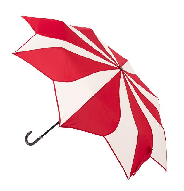Blooming Brollies Dámský skládací deštník Red and Cream Swirl EDFSWRC