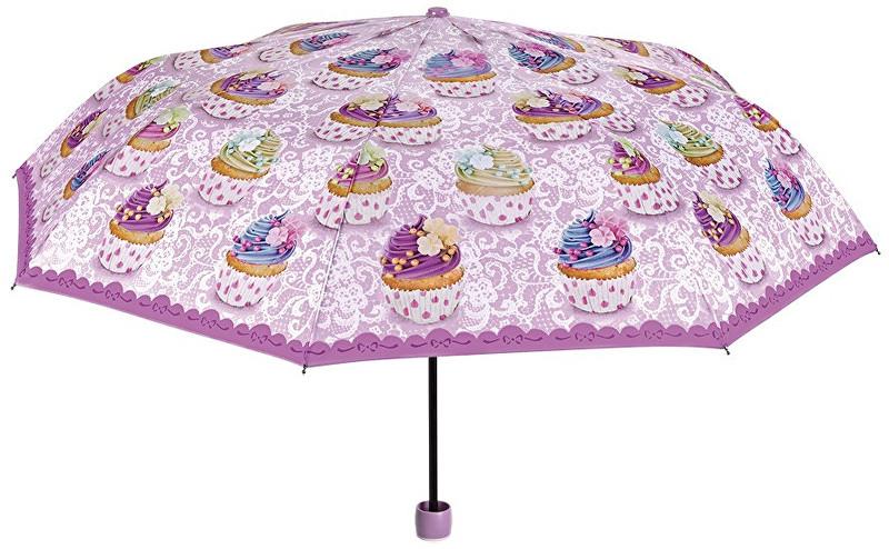 Blooming Brollies Dámský skládací mechanický deštník Cupcake Themed 25915A