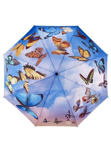 Blooming Brollies Dámský skládací plně automatický deštník Galleria Swirling Butterflies GBFSB