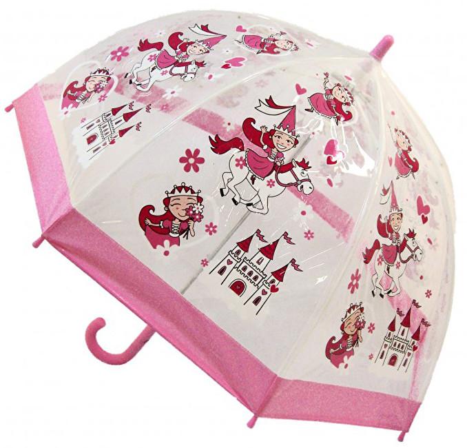 Blooming Brollies Dětský průhledný holový deštník Buggz Kids Stuff Princess BUPRIN