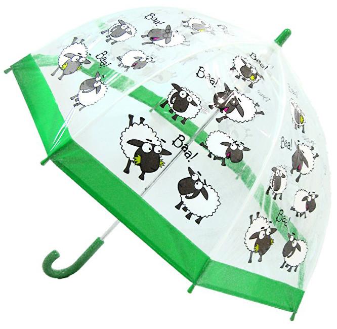 Blooming Brollies Dětský průhledný holový deštník Buggz Kids Stuff Sheep BUSHE