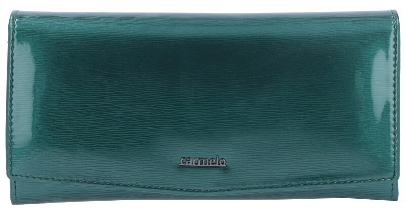 Carmelo Dámska kožená peňaženka 2109G Zelená