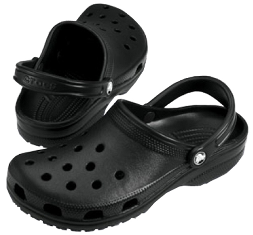 Crocs Čierne šľapky Classic Black 10001-001-M10W12 43-44