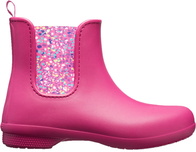 Crocs Dámske gumáky Crocs Freesail Chelsea Boot Berry/Dots 204630-6PC 37-38