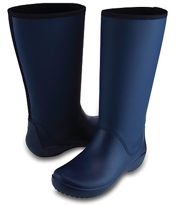 Crocs Doamnelor albastre de RainFloe Tall Boot Navy RainFloe Tall Boot 203416-410 36-37