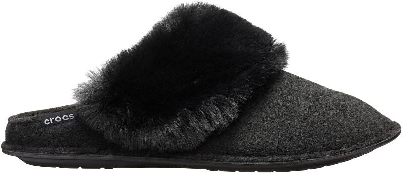 Crocs Papuci de damă Clasic Luxe Slipper Black 205394-001 38-39