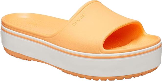 Crocs Dámske šľapky Crocband Platform Slide Cantaloupe / White 205631-82S 39-40