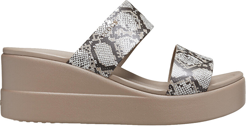 Crocs Dámske šľapky Crocs Brooklyn Mid Wedge W Multi / Stucco 206219-93T 42-43