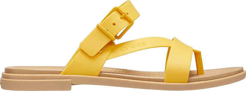 Crocs Dámske šľapky Crocs Tulum Toe Post Sandal W Canary / Tan 206108-75Q 41-42
