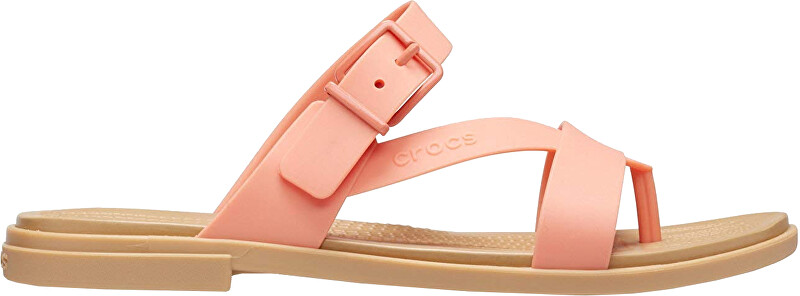 Crocs Dámske šľapky Crocs Tulum Toe Post Sandal W Grape fruit / Tan 206108-82R 39-40