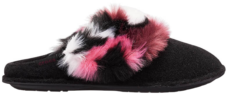Crocs Pantofi Deci Luxe Slipper Black / Multi 205890-0C4 41-42