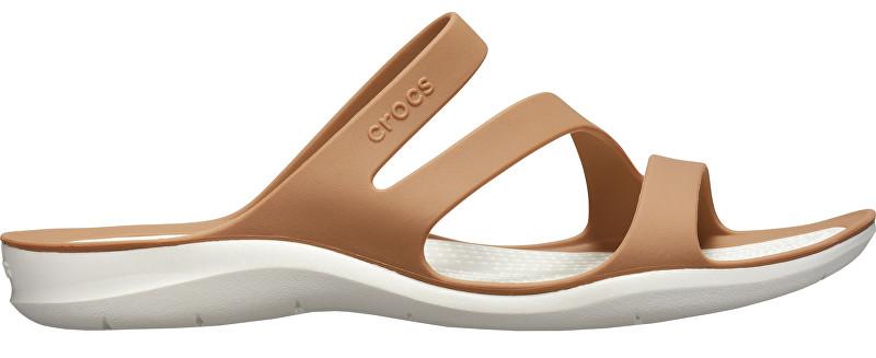 Crocs Dámske šľapky Swiftwater Sandal Bronze/Oyster 203998-81F 41-42
