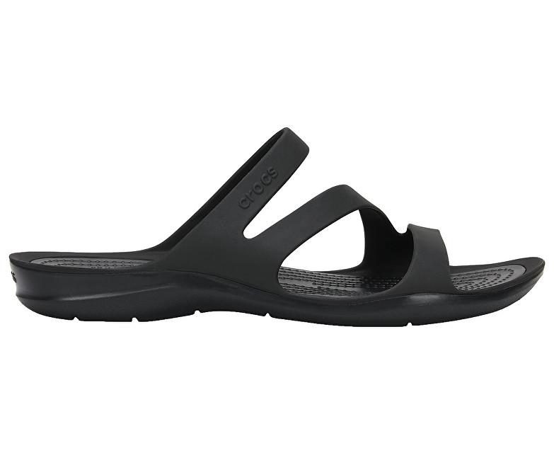 Crocs Dámske šľapky Swiftwater Sandal Paradise Black/Black 203998-060 37-38