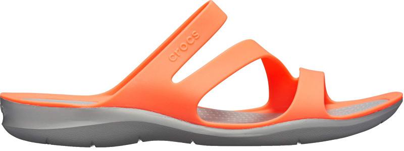 Crocs Pantofi Swiftwater Sandal Bright Coral/Light Grey 203998-6PK 36-37