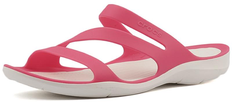 b8aae51c062 Crocs Dámské pantofle Swiftwater Sandal Paradise Pink White 203998-6NR 36-37