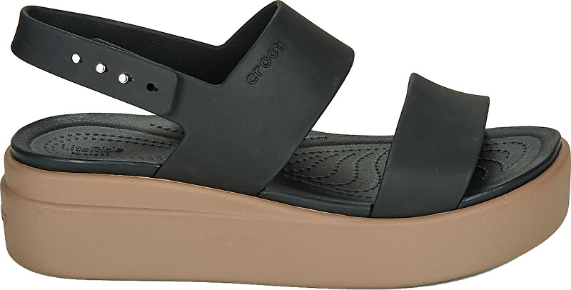 Crocs Dámské sandále Crocs Brooklyn Low Wedge W BlackMushroom 20645307H 3940
