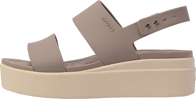 Crocs Dámské sandále Crocs Brooklyn Low Wedge W MushroomStucco 20645315W 3940