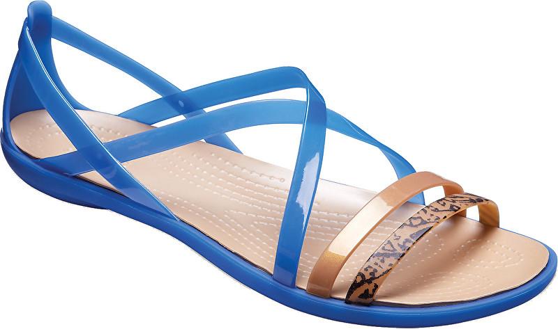 Crocs Dámske sandále Isabella Grph Strappy Sandal Blue Jean/Gold 205084-4HT 41-42