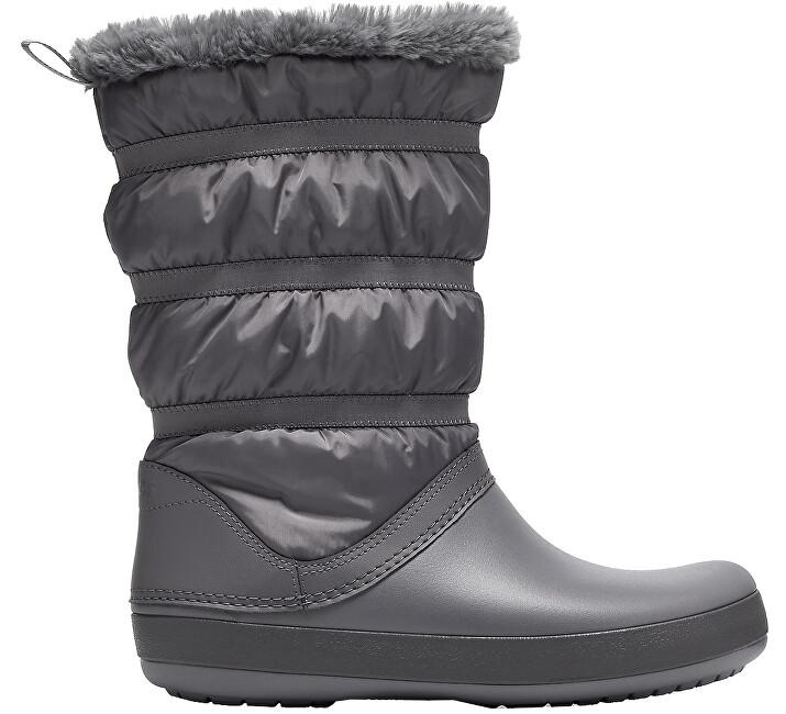 Crocs Dámske snehule Crocband Winter Boot Charcoal 205314-025 37-38