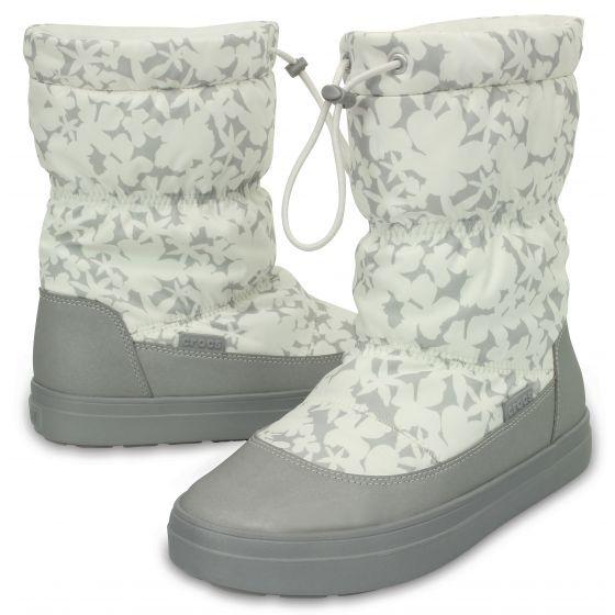 Crocs Dámske snehule LodgePoint Pull-on Boot Oyster 37-38