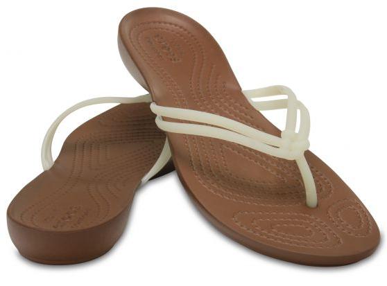 30635c18a Crocs Dámské žabky Crocs Isabella Flip White/Bronze 204004-1AO 37-38