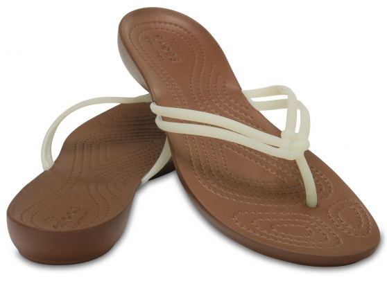 944bdbb0139 Crocs Dámske žabky Crocs Isabella Flip White-Bronze 204004-1AO 36-37