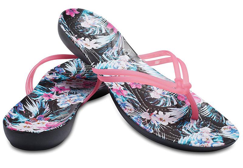ba00c7a54e8aa Crocs Dámske žabky Crocs Isabella Graphic Flip Paradise Pink/Tropical  Floral 204196-6NT 37