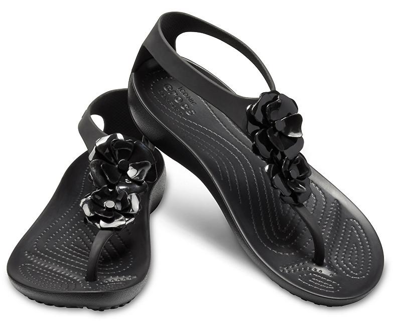 Crocs Dámske žabky Serena Embellish Flip W 205600-060 Black / Black 37-38