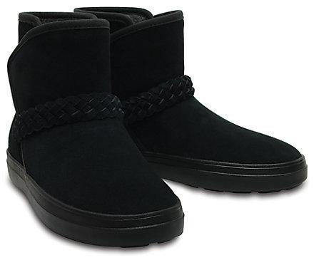 Crocs Dámské zimní boty LodgePoint Suede Bootie W Black 204798-001 36-37
