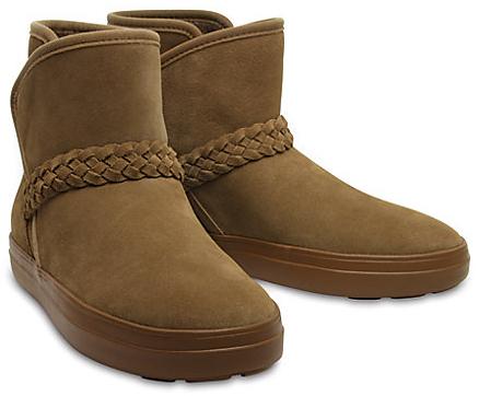 Crocs Dámske zimné topánky LodgePoint Suede Bootie W Hazelnut 204798-28G 37-38