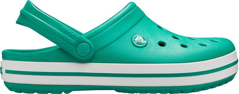 Crocs Pánske šľapky Crocband Deep Green / White 11016-3TL 45-46