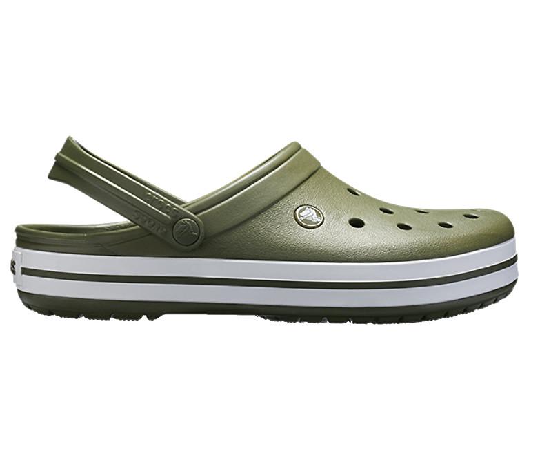 Crocs Šľapky Crocband Light Army Green/White 11016-37P 43-44