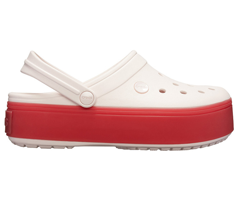 Crocs Šľapky Crocband Platform Clog Barely Pink/Pepper 205434-6QB 37-38