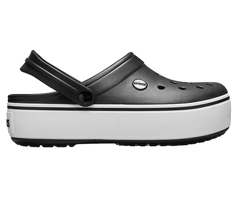 Crocs Pantofi Crocband Platform Clog Black/White 205434-066 41-42
