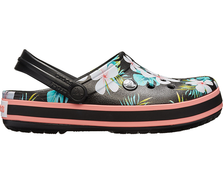 Crocs Šľapky Crocband Seasonal Graphic Clog Black / Flora l 205579-0CV 38-39