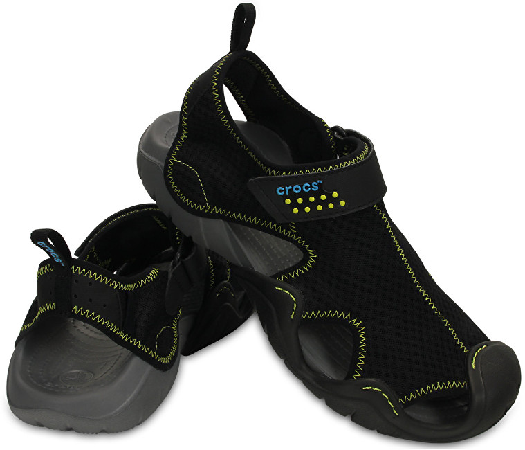 Crocs Sandale Swiftwater Sandal Black/Charcoal 15041-070 42-43