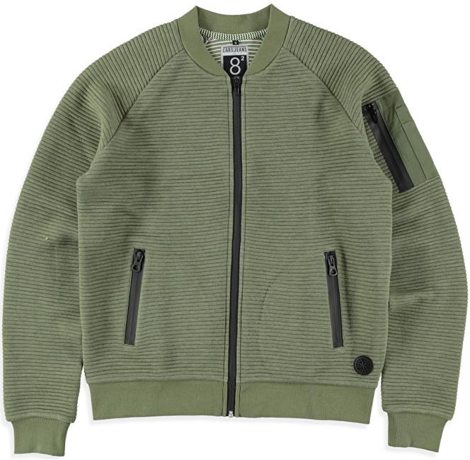 Cars Jeans Pánska zelená mikina Ivan Army 4382619 S