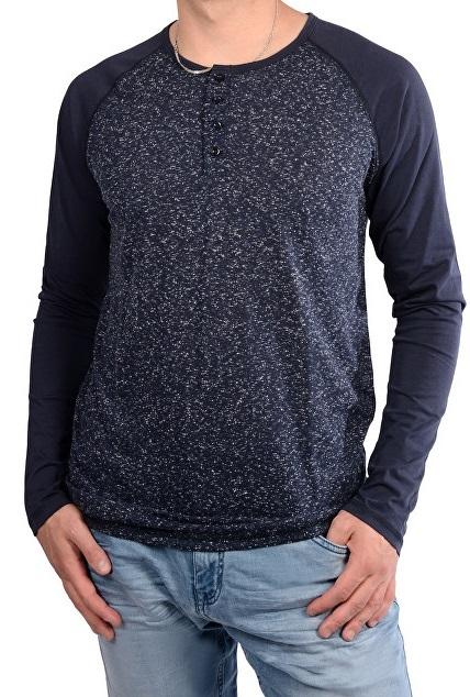 42c404f5c0c4 Cars Jeans Pánske modré tričko Base Navy 4627249 L