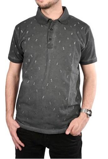 Cars Jeans Pánske šedé tričko s potlačou Lucio Antra 4245717 M