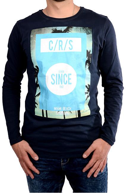 138414def9db Cars Jeans Pánske tmavo modré tričko s potlačou Mojo Navy 4067712 M