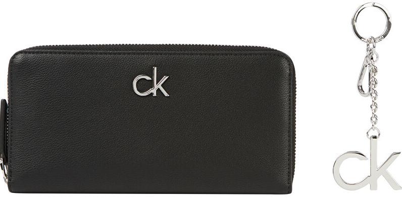 Calvin Klein Darčeková sada peňaženky a prívesku Z / A Wall et Md + Keyfob K60K607374BAX