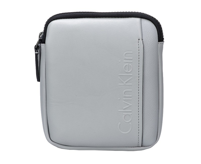 Calvin Klein Crossbody taška Elevated Logo Mini Flat Crossover Sleet Grey